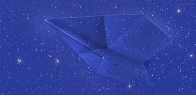 Par Avion よく飛ぶ紙飛行機便箋 夜間飛行