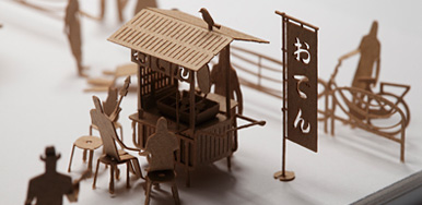 1/100 SCALE ARCHITECTURAL MODEL ACCESSORIES SERIES No. 20 Food Stall