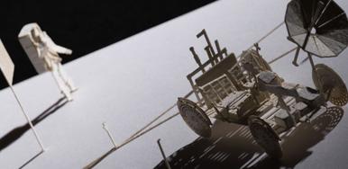 No.66 月面車+アポロ月面実験装置群編