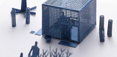 1/100 ARCHITECTURAL MODEL ACCESSORIES SERIES Special edition Tearoom JI-AN Designed by SHIGERU UCHIDA