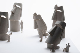 1/100 ARCHITECTURAL MODEL ACCESSORIES SERIES No.86 Easter Island