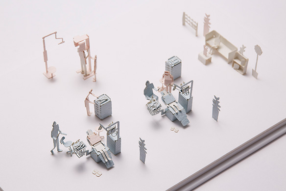 1/100 ARCHITECTURAL MODEL ACCESSORIES SERIES No.55 DENTAL CLINIC 004