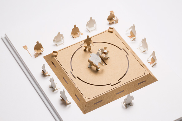 1/100 ARCHITECTURAL MODEL ACCESSORIES SERIES No.57 Sumo Wrestling