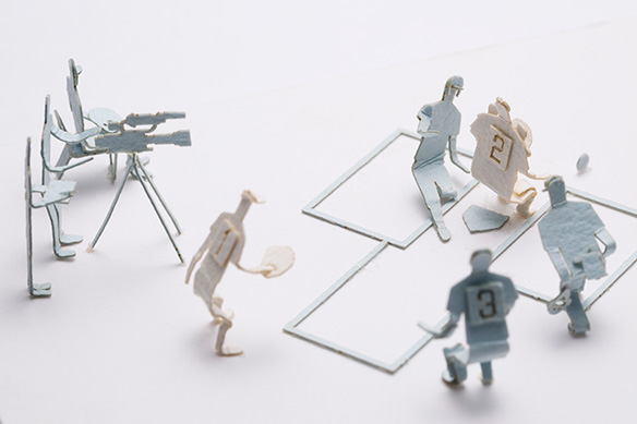 1/100 ARCHITECTURAL MODEL ACCESSORIES SERIES No.60 High School Baseball