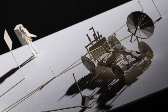 1/100 ARCHITECTURAL MODEL ACCESSORIES SERIES No.66 LRV: Lunar Roving Vehicle + ALSEP: Apollo Lunar Surface Experiments Package