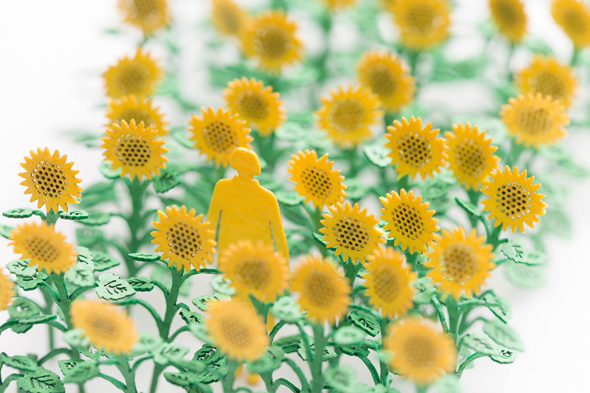1/100 ARCHITECTURAL MODEL ACCESSORIES SERIES No.68 Sunflower