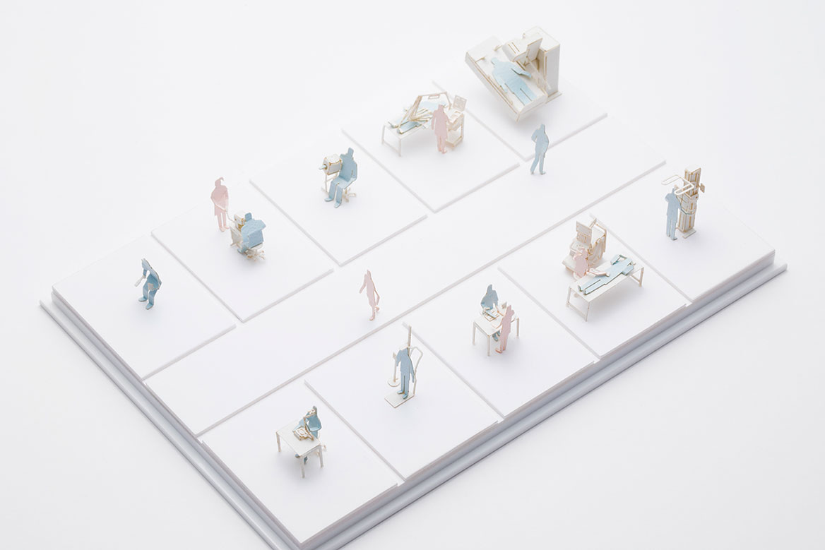 1/100 SCALE ARCHITECTURAL MODEL ACCESSORIES SERIES No.73 Medical Checkup