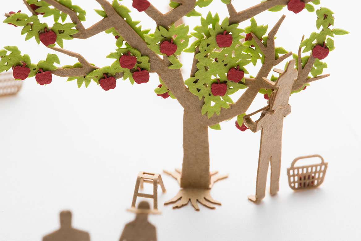 1/100 ARCHITECTURAL MODEL ACCESSORIES SERIES No.77 Apple Picking