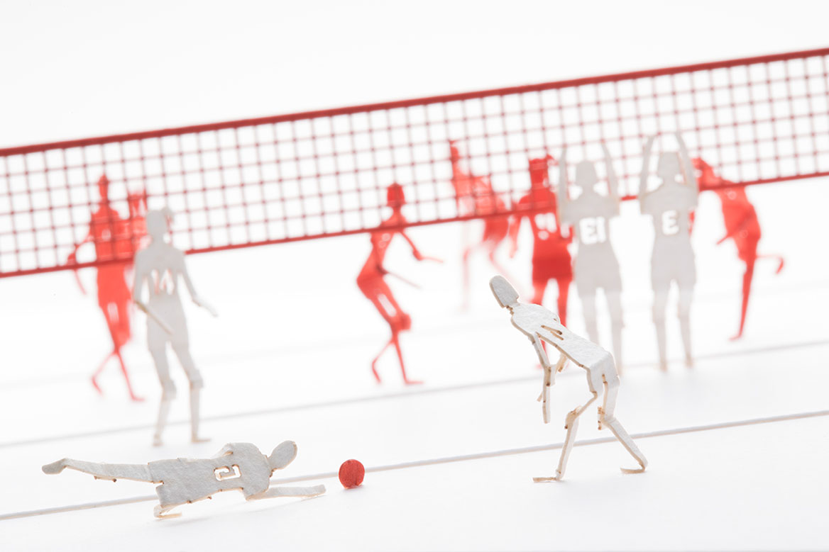 1/100 ARCHITECTURAL MODEL ACCESSORIES SERIES No.78 Women's Volleyball