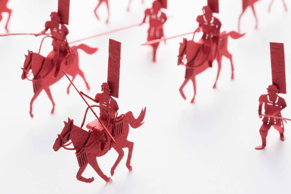 1/100 ARCHITECTURAL MODEL ACCESSORIES SERIES No.80 Takeda's Cavalry