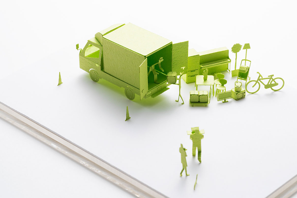 1/100 ARCHITECTURAL MODEL ACCESSORIES SERIES No.81 Moving House