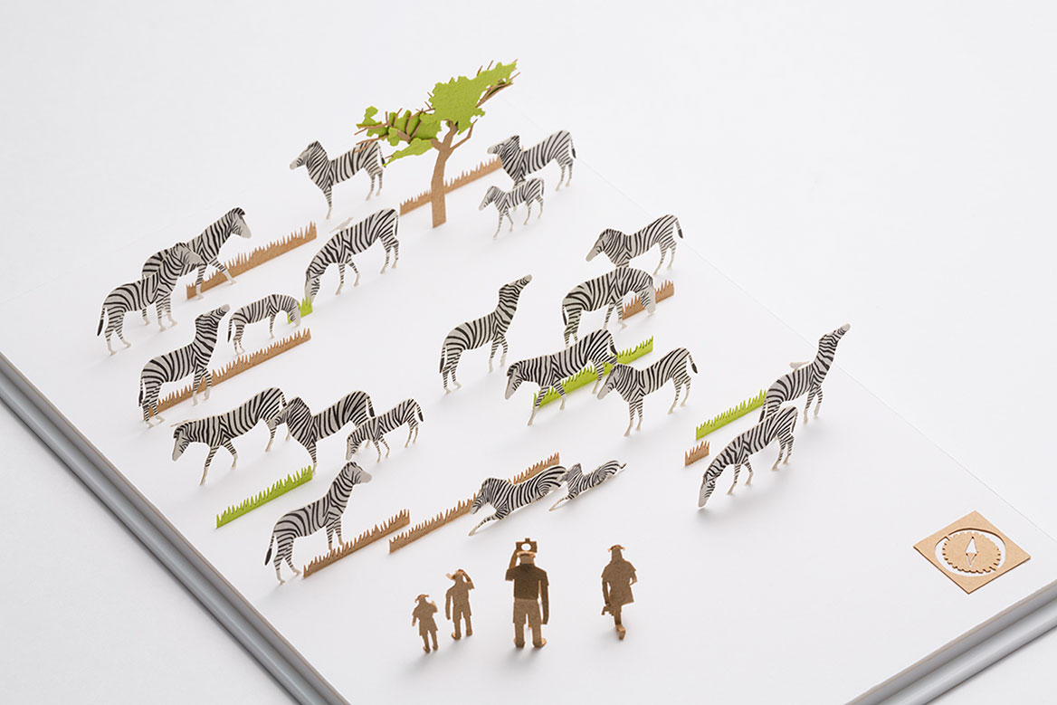 1/100 ARCHITECTURAL MODEL ACCESSORIES SERIES Special Edition Plains Zebra