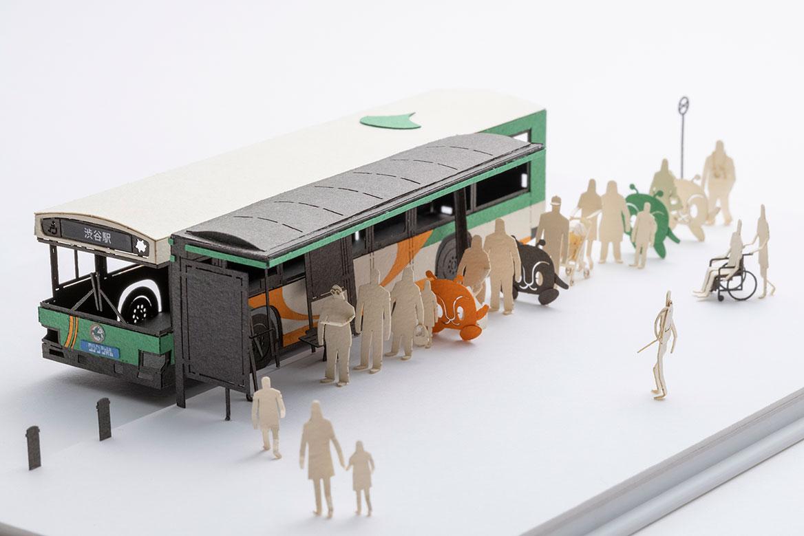 1/100 ARCHITECTURAL MODEL ACCESSORIES SERIES TOEI BUS