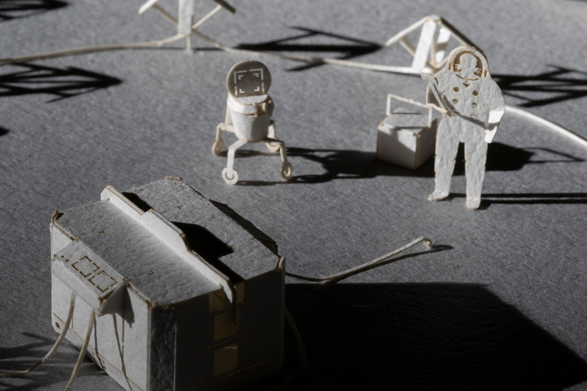 1/100 ARCHITECTURAL MODEL ACCESSORIES SERIES SPACE BROTHERS SERIES SHARON LUNAR OBSERVATORY