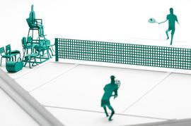 1/100建築模型用添景セット No.58 テニス編
