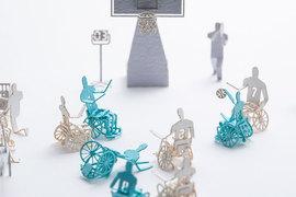 1/100「リアル」なテラダモケイ建築模型用添景セット No.85 車いすバスケットボール編