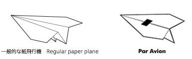 切手の糊を利用した飛行性能