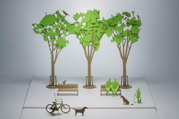 1/100 ARCHITECTURAL MODEL ACCESSORIES SERIES No.10 Street Tree