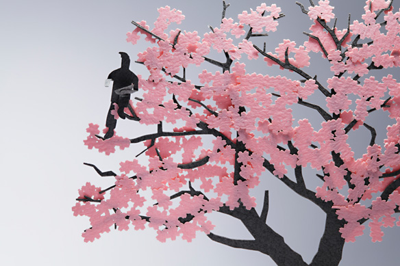 1/100 ARCHITECTURAL MODEL ACCESSORIES SERIES No.11 Cherry Blossom