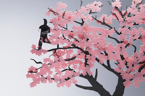 1/100建築模型用添景セット No.11 お花見編