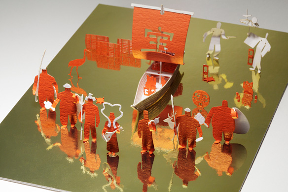 1/100 ARCHITECTURAL MODEL ACCESSORIES SERIES No. 13 The Seven Gods of Good Fortune