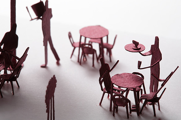 1/100 SCALE ARCHITECTURAL MODEL ACCESSORIES SERIES No.25 Open-air Café