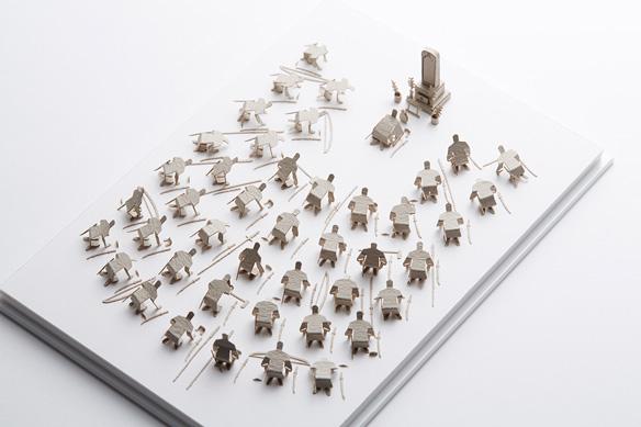 1/100建築模型用添景セット No.54 忠臣蔵・墓前に報告