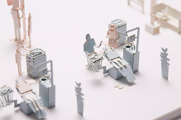 1/100建築模型用添景セット No.55 歯科医院編