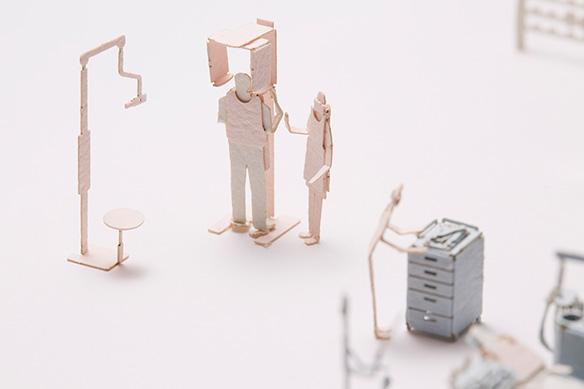 1/100建築模型用添景セット No.55 歯科医院編 003