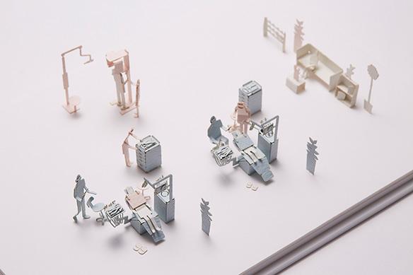 1/100建築模型用添景セット No.55 歯科医院編 004