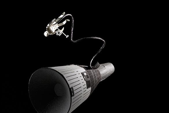 1/100建築模型用添景セット No.56 ジェミニ宇宙船+宇宙遊泳編 002