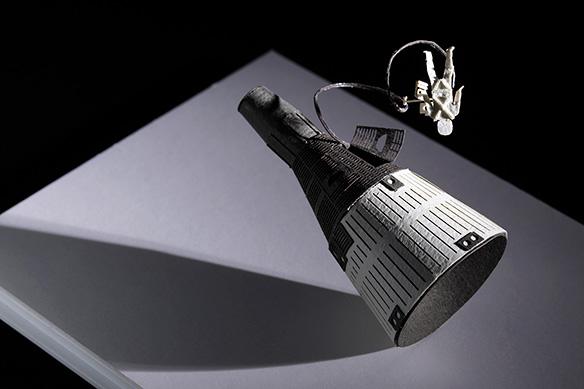 1/100建築模型用添景セット No.56 ジェミニ宇宙船+宇宙遊泳編 004