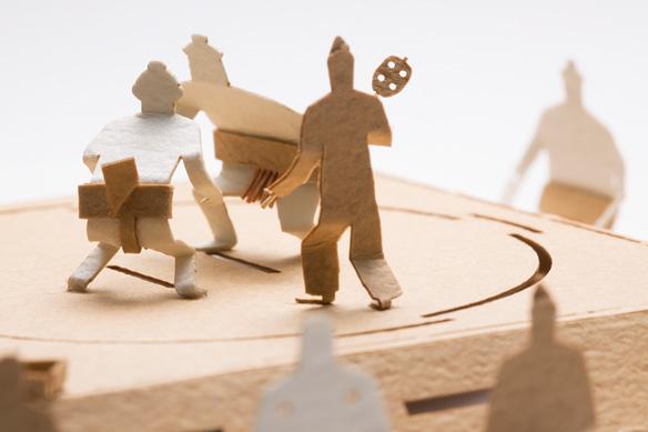 1/100建築模型用添景セット No.57 相撲編 003