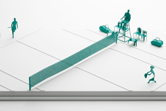 1/100建築模型用添景セット No.58 テニス編 002