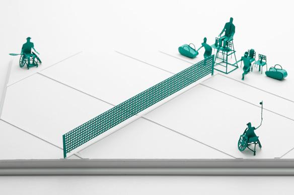 1/100建築模型用添景セット No.58 テニス編 003