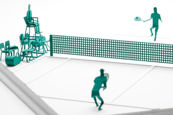 1/100建築模型用添景セット No.58 テニス編 004