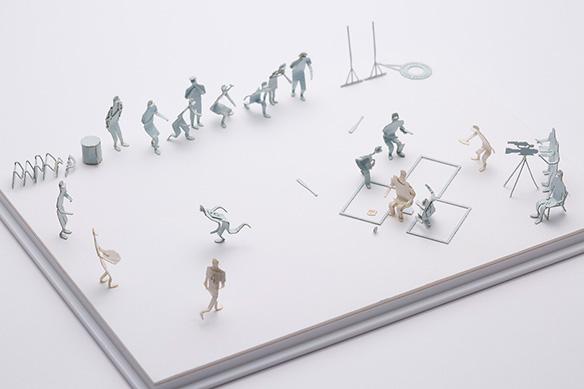 1/100建築模型用添景セット No.60 高校野球編 004