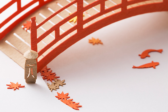 1/100建築模型用添景セット No.61 もみじ狩り編 002