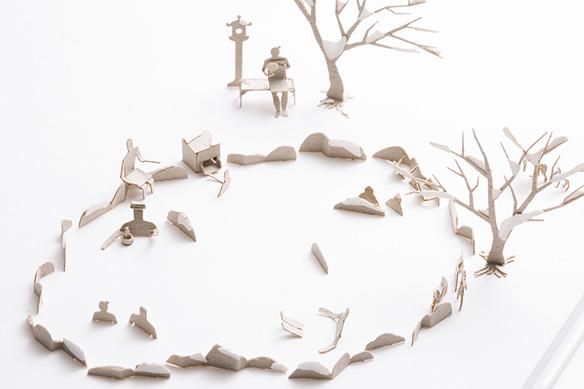 1/100建築模型用添景セット No.62 温泉・露天風呂編