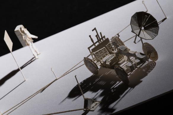 1/100建築模型用添景セット No.66 月面車+アポロ月面実験装置群編