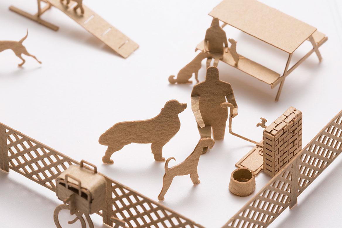 1/100建築模型用添景セット No.67 ドッグラン編