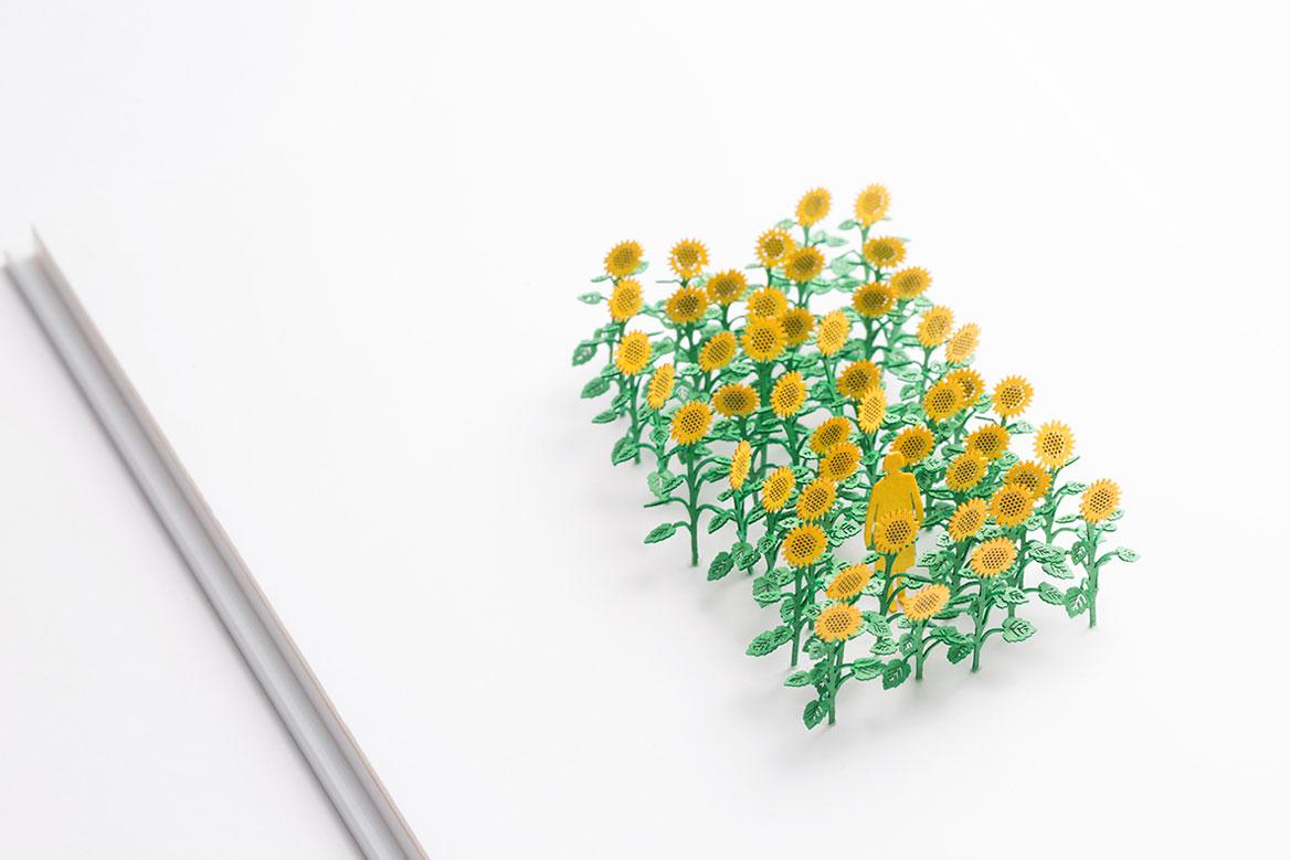 1/100建築模型用添景セット No.68 ひまわり編
