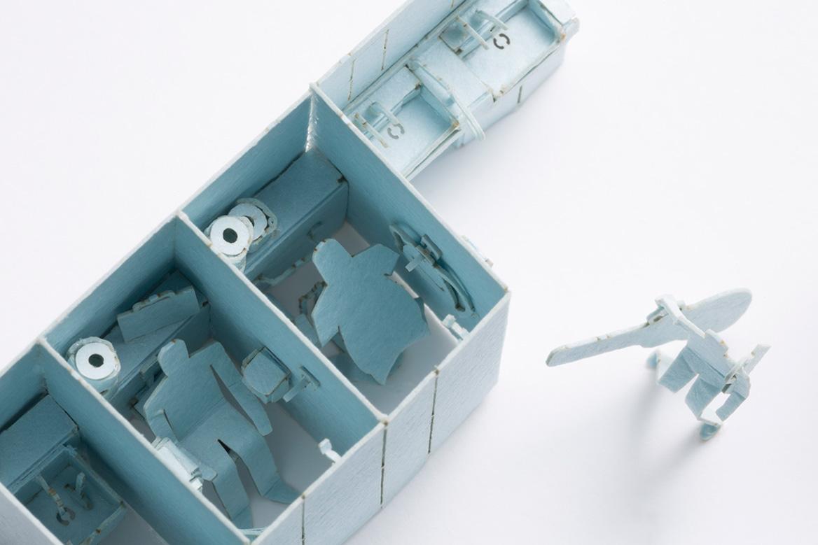 1/100建築模型用添景セット No.70 腹痛時のトイレ満室編