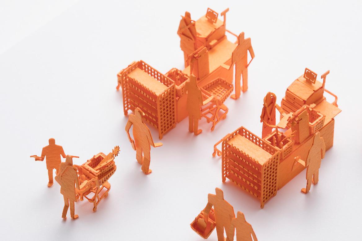 1/100建築模型用添景セット No.72 スーパーのレジ編