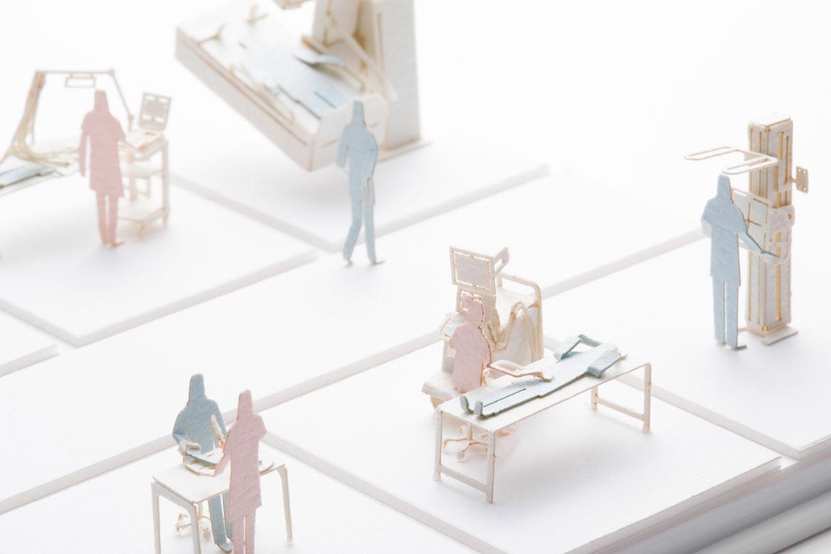 1/100建築模型用添景セット NO.73 人間ドック編