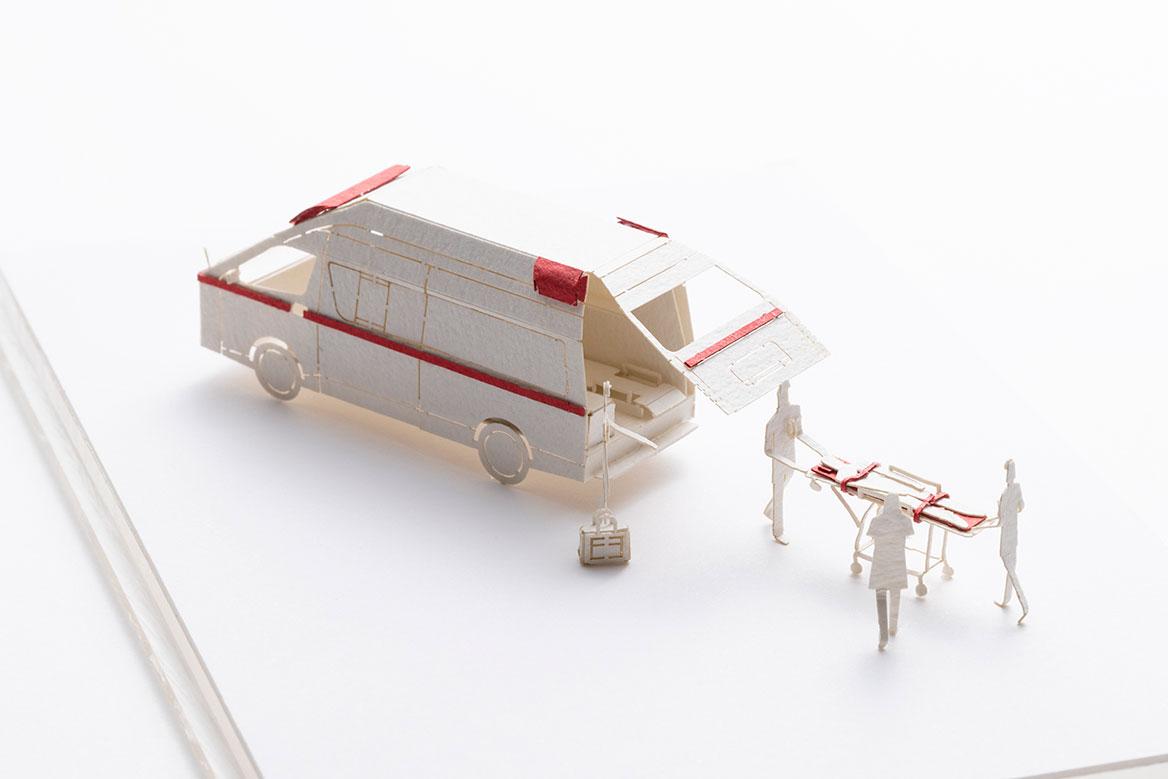 1/100建築模型用添景セット No.94 救急隊編