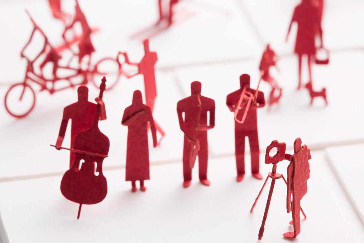 1/100建築模型用添景セット キヤノン「マクロレンズで1/100の世界を遊ぼうキャンペーン編」