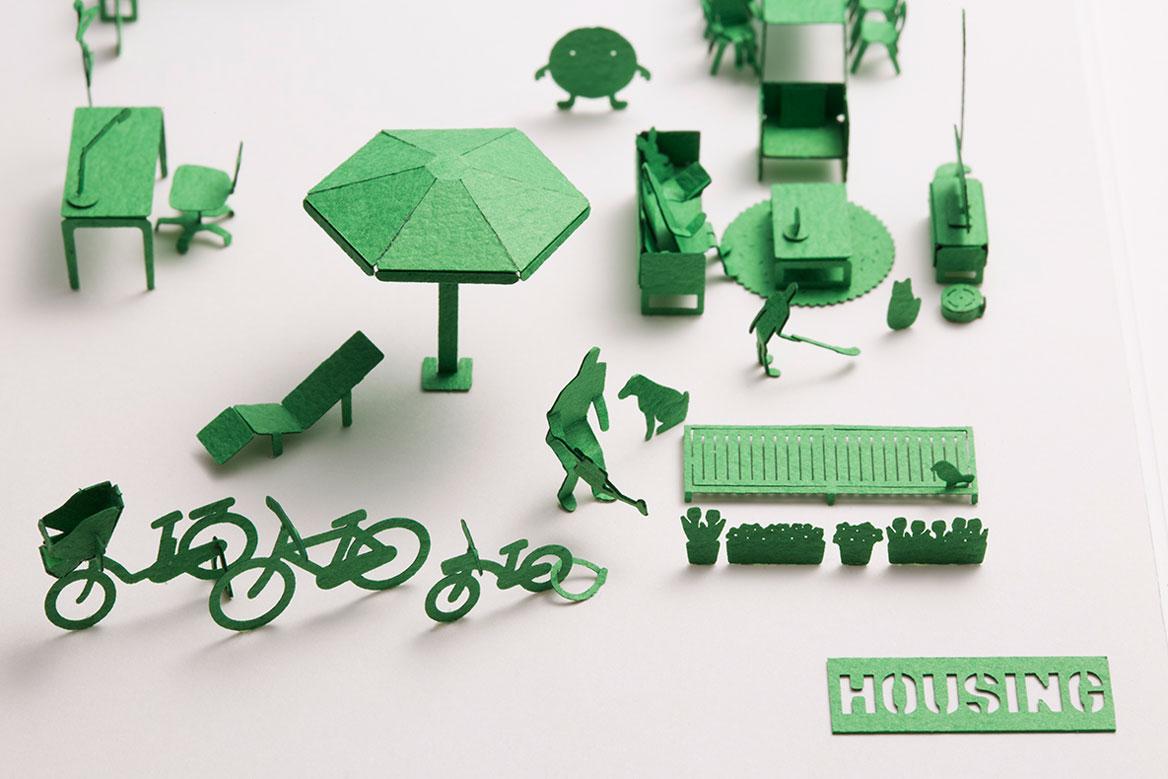 1 100建築模型用添景セット スペシャルエディション housing編 製品