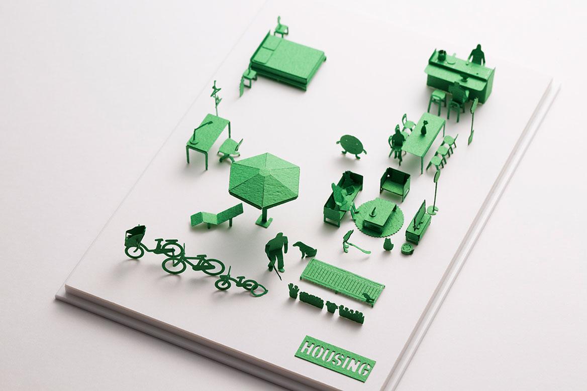 1/100建築模型用添景セット スペシャルエディション HOUSING編