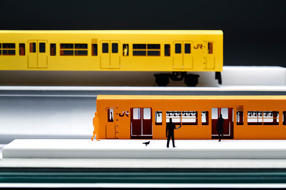 ARCHITECTURAL MODEL ACCESSORIES SERIES JR EAST RAILWAY CHUO LINE RAPID SERVICE 201 SERIES